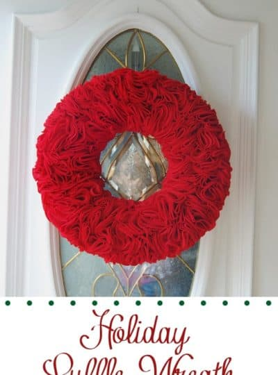 Ruffle Wreath {An Easy Christmas Wreath}