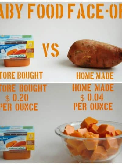 Baby Food Face-Off!!  Homemade Baby Food | A break down of the cost benefits