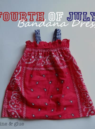 Fourth of July Bandana Dress {with matching Bandana Shirt for me!}