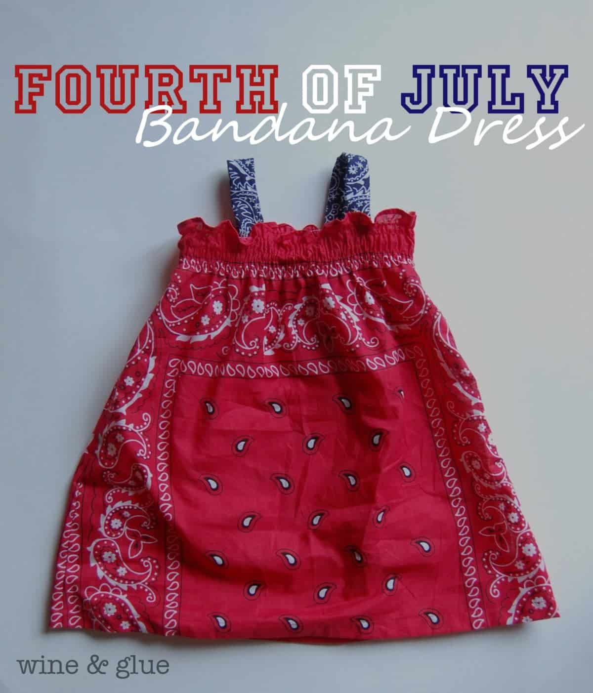 Fourth Of July Bandana Dress With Matching Bandana Shirt