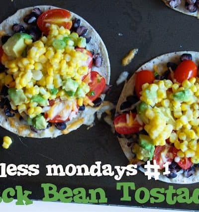 Introducing Meatless Mondays at Wine and Glue! {Meatless Tostadas with Corn Relish}