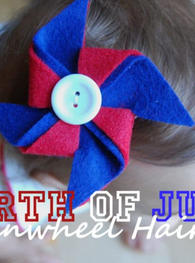 Fourth of July Pinwheel Hair Clip