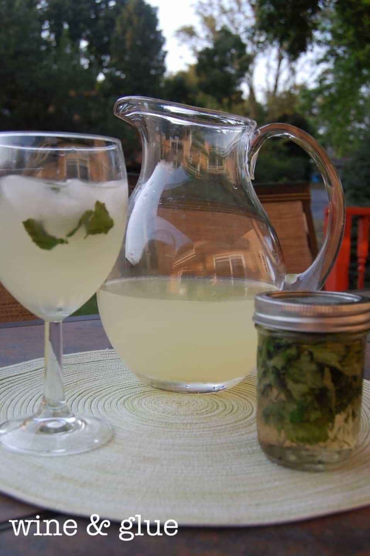 Basil Vodka and Lemonade