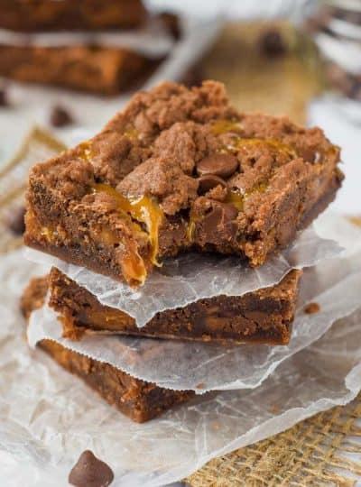 World's Best Caramel Brownies