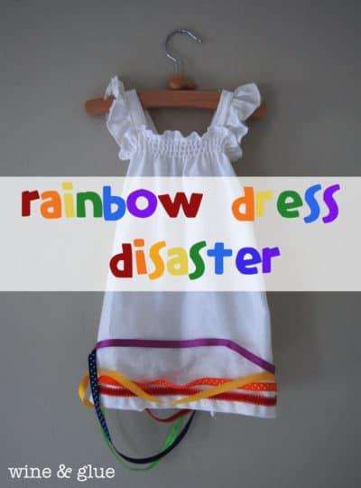 Rainbow Dress Disaster