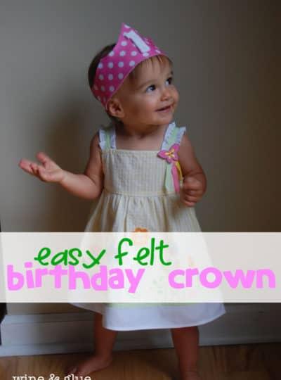 Easy Felt Birthday Crown