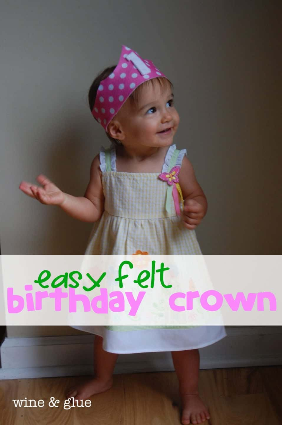 Easy Felt Birthday Crown