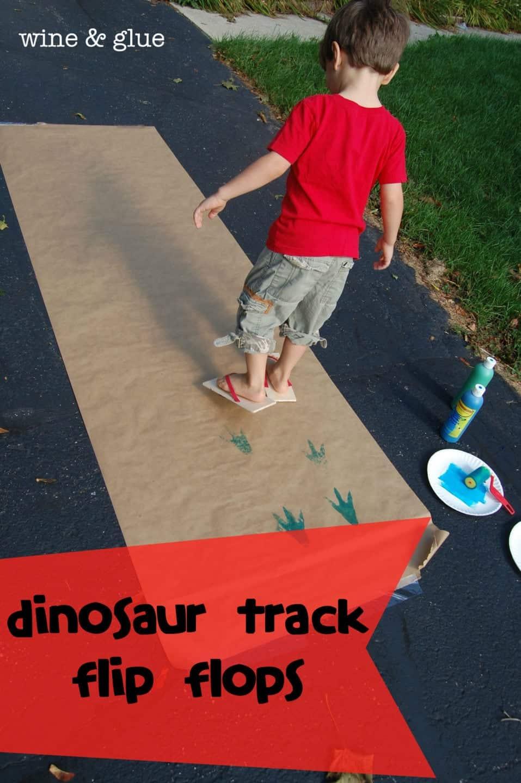 Dinosaur Track Flip Flops