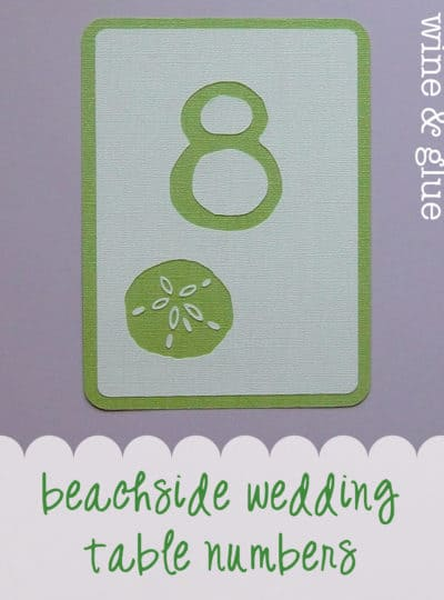 Beachside Wedding Table Numbers