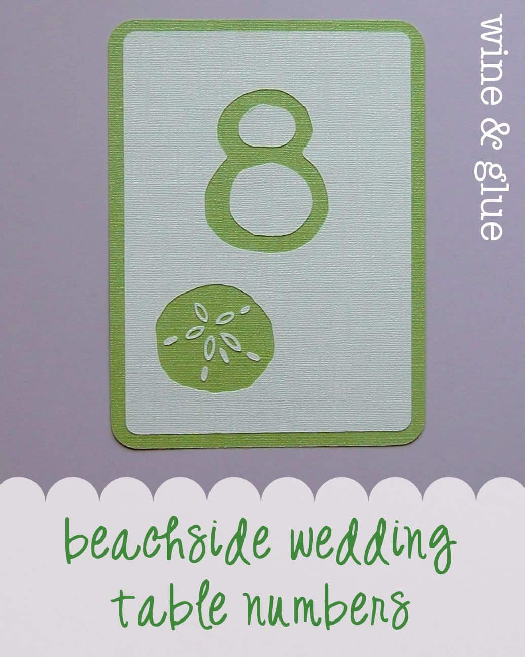 Beachside Wedding Table Numbers