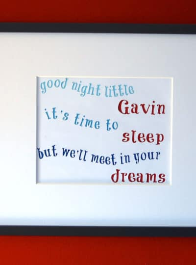 Gavin's Goodnight Song and the Etsy Shop