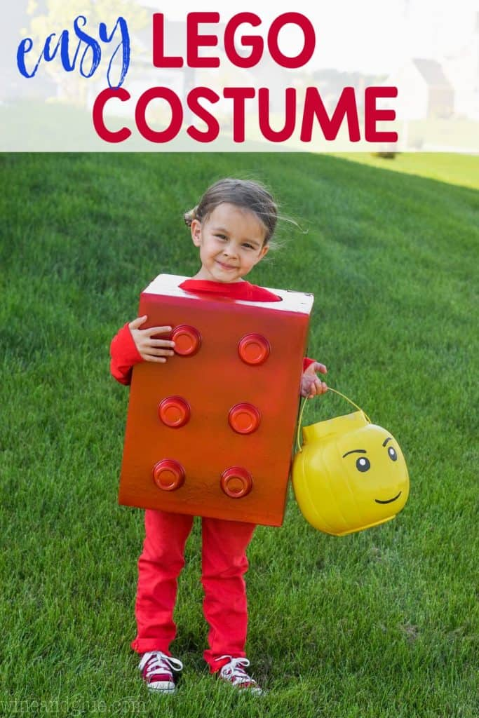 Easy Lego Halloween Costume For Kids Wine Glue