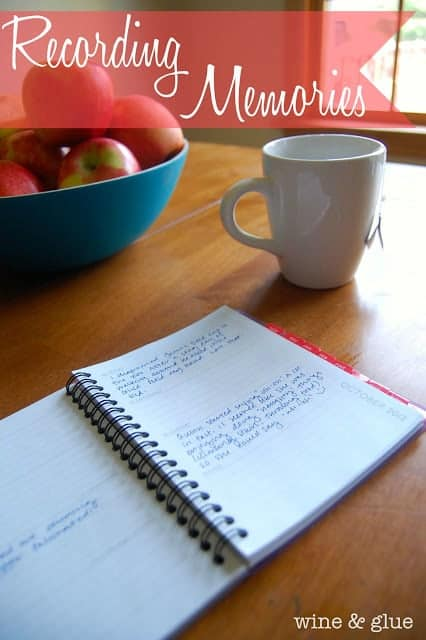 Recording Memories {An Idea from a Lazy Mom}