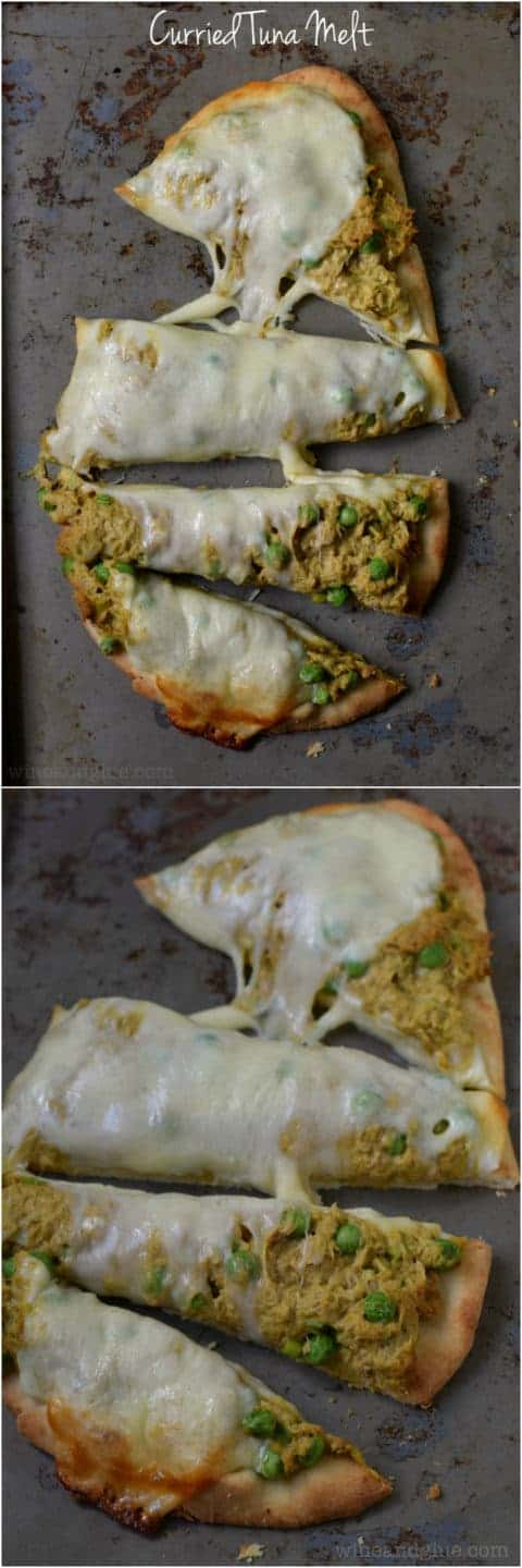 Curried Tuna Melt | www.wineandglue.com | A super easy lunch that is delicious and full of flavor