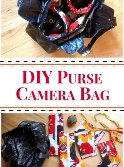 DIY Purse Camera Bag {Tutorial}