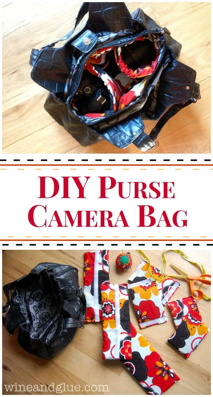 DIY Purse Camera Bag | A tutorial to make a fancy camera bag purse out of a second hand bag!