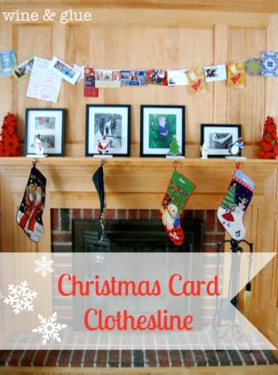 Christmas Card Clothesline