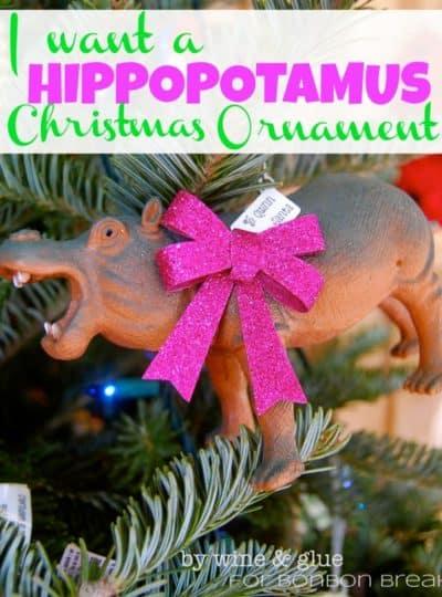 I Want A Hippopotamus & Bonbons {DIY Ornaments}