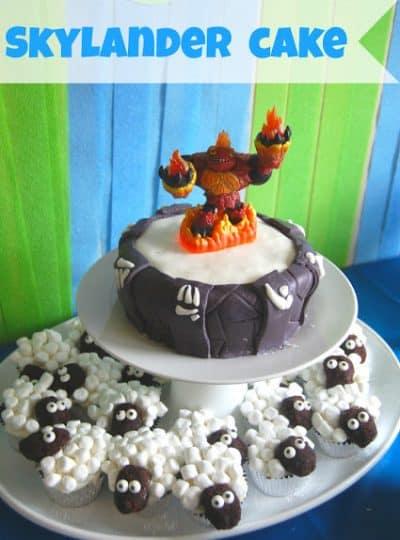 Skylander Portal Cake & Sheep Cupcakes