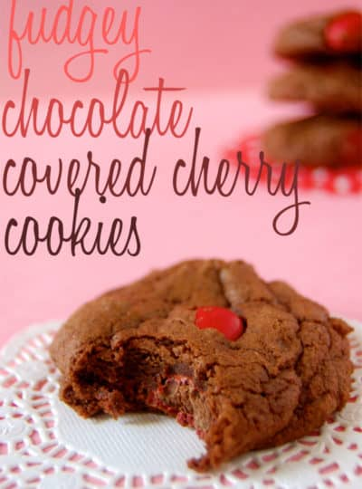 Fudgey Chocolate Covered Cherry Cookies
