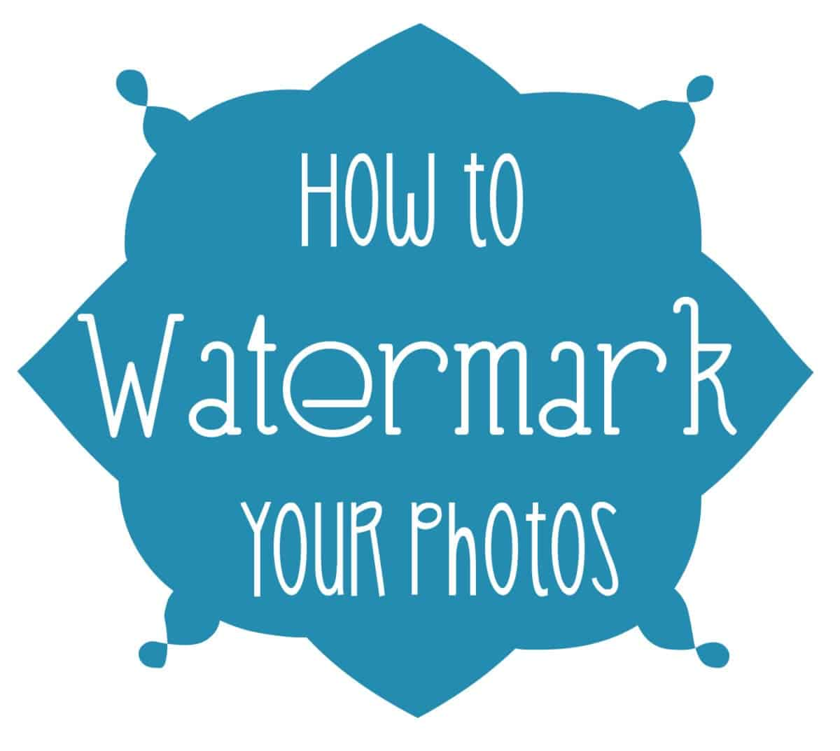 How to Watermark Photos