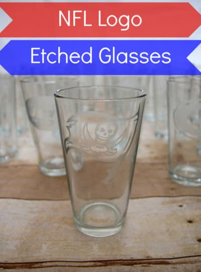 NFL Logo Etched Glasses