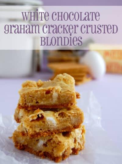 White Chocolate Graham Cracker Crusted Blondies