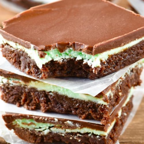 mint chocolate brownies with frosting wine and glue