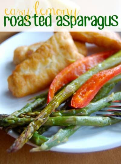 Easy Lemony Roasted Asparagus