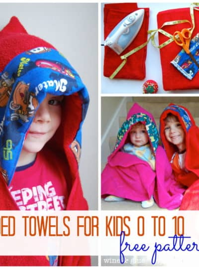 Hooded Towels for Kids of All Ages {Tutorial}