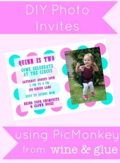 DIY Photo Invitations Using PicMonkey {A Tutorial}