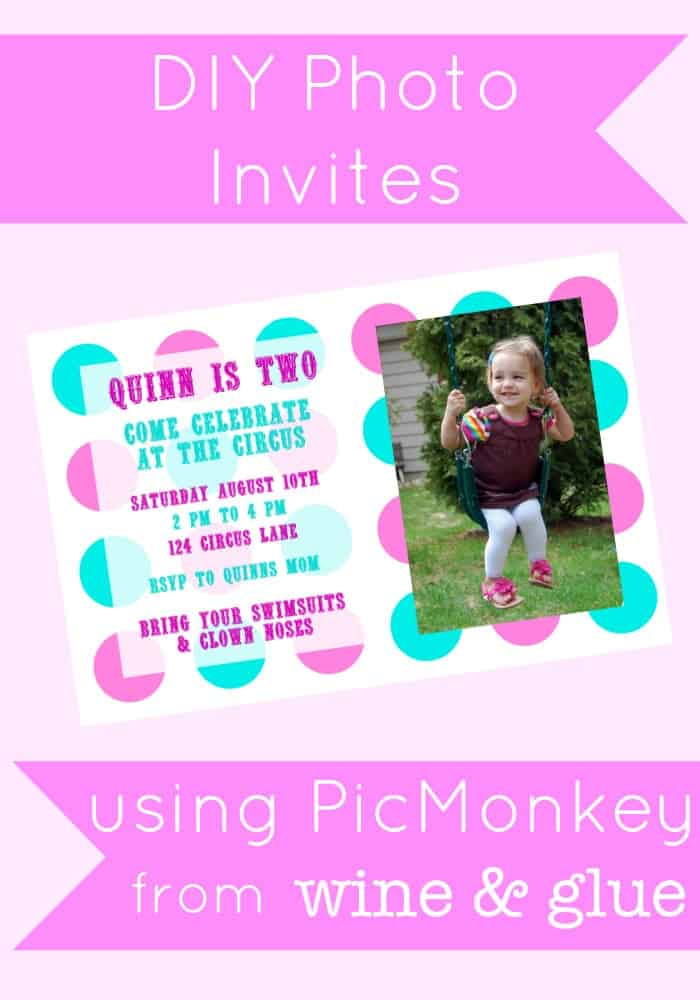 DIY Photo Invitations Using PicMonkey {A Tutorial}