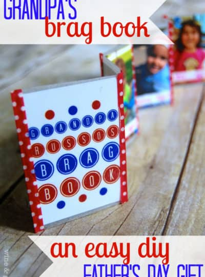 Grandpa's Brag Book {DIY Father's Day Gift}