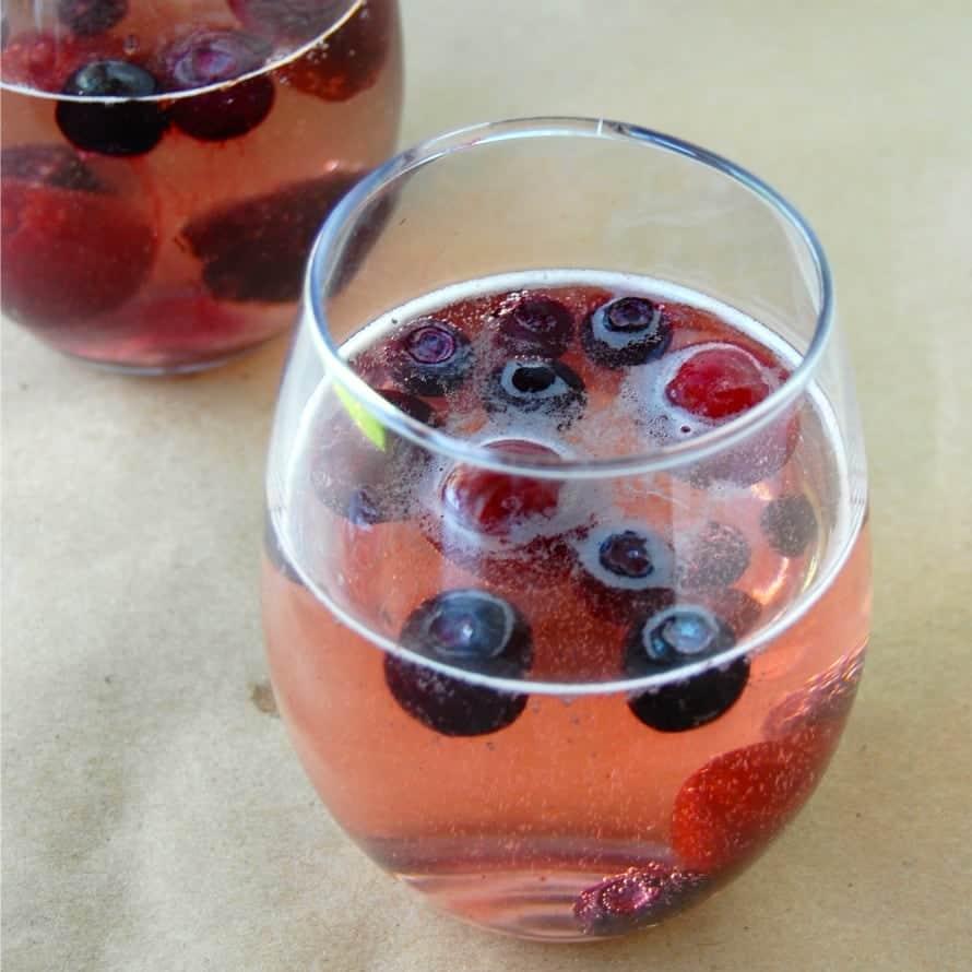 Red Wine & Blue Summer Spritzer - Wine & Glue