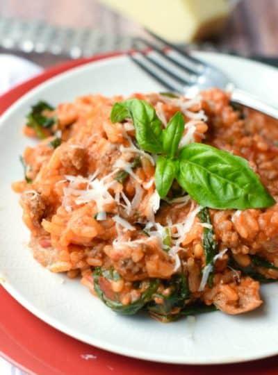 Tomato Sausage Risotto