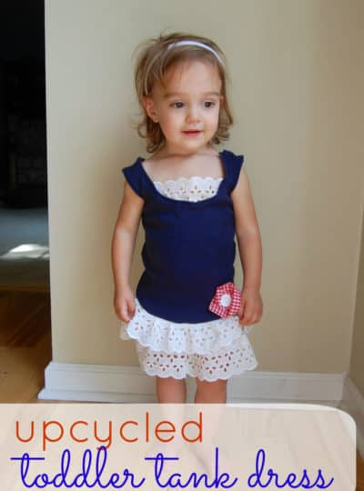 Toddler Tank Dress {Upcycled}