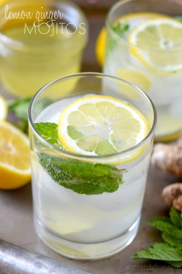 Lemon Ginger Mojito | The refreshing flavors of lemon, ginger, and mint in a delicious mojito!