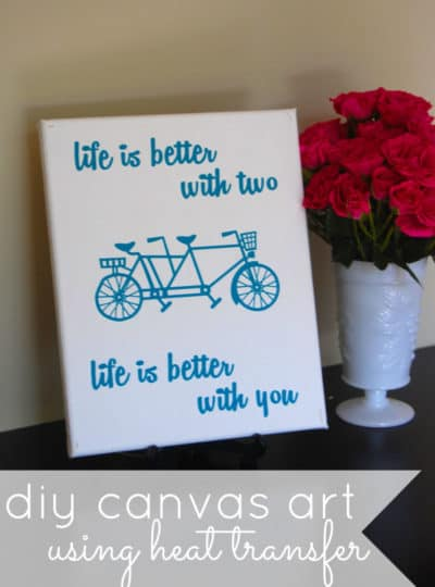 Silhouette Heat Transfer Promotion {DIY Canvas Art}