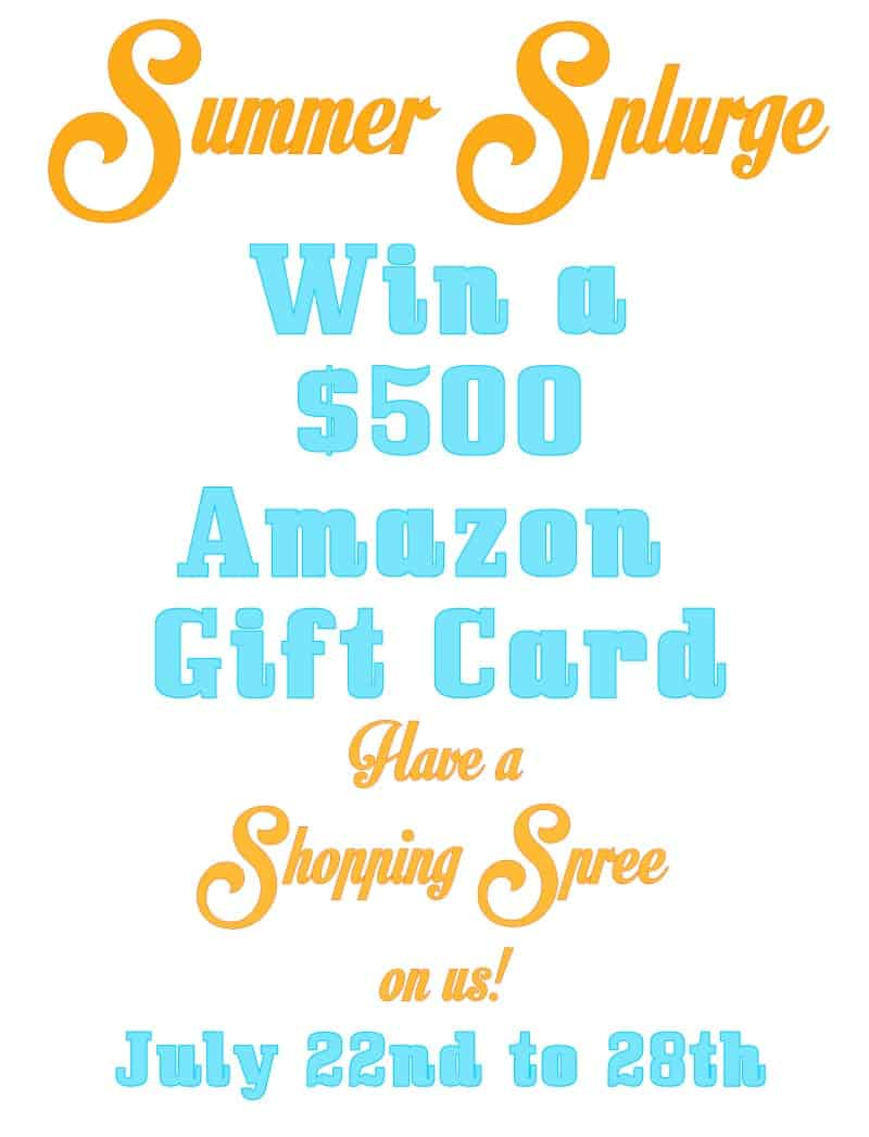 Win $500 in Amazon Cash and have a Summer Splurge!