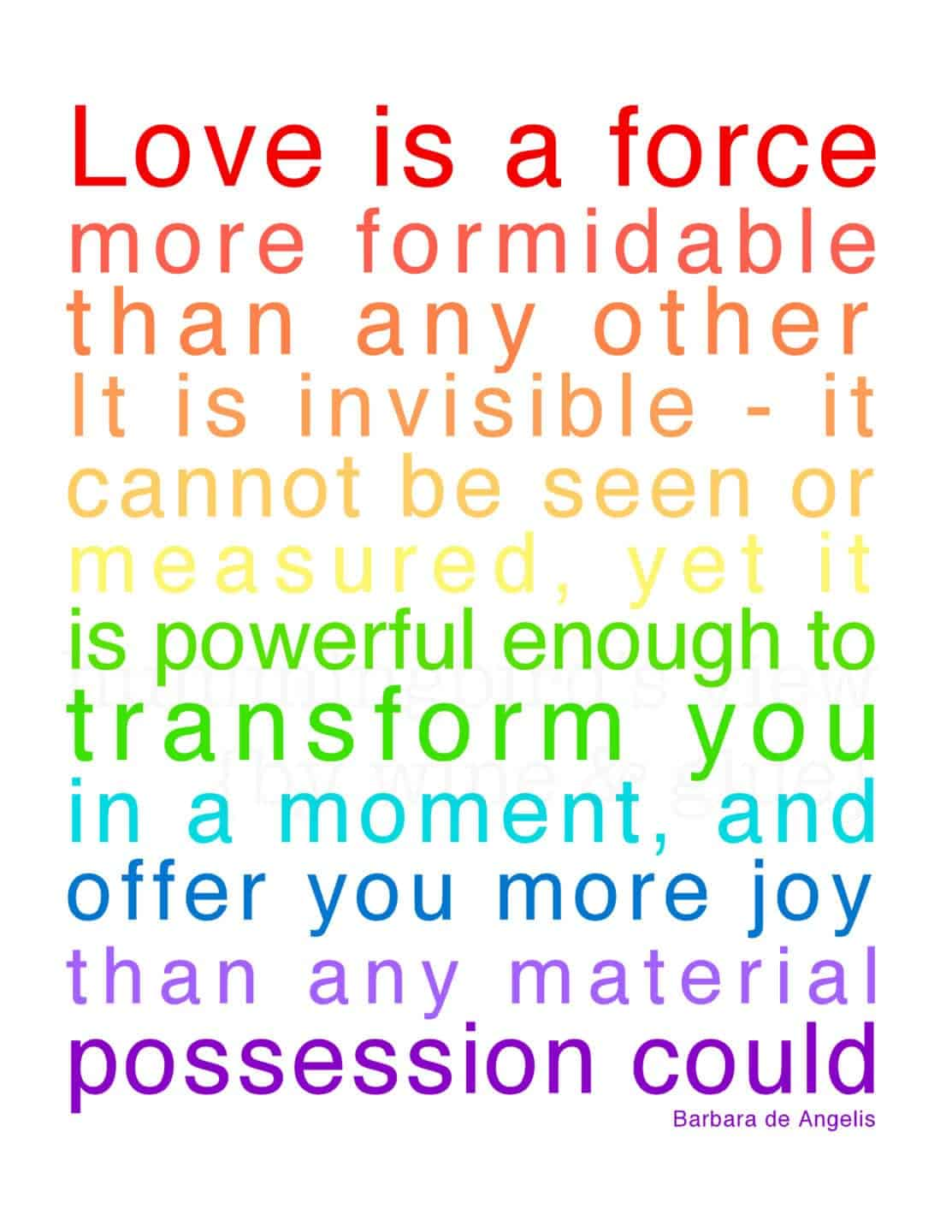 Love is a Force {Printable}