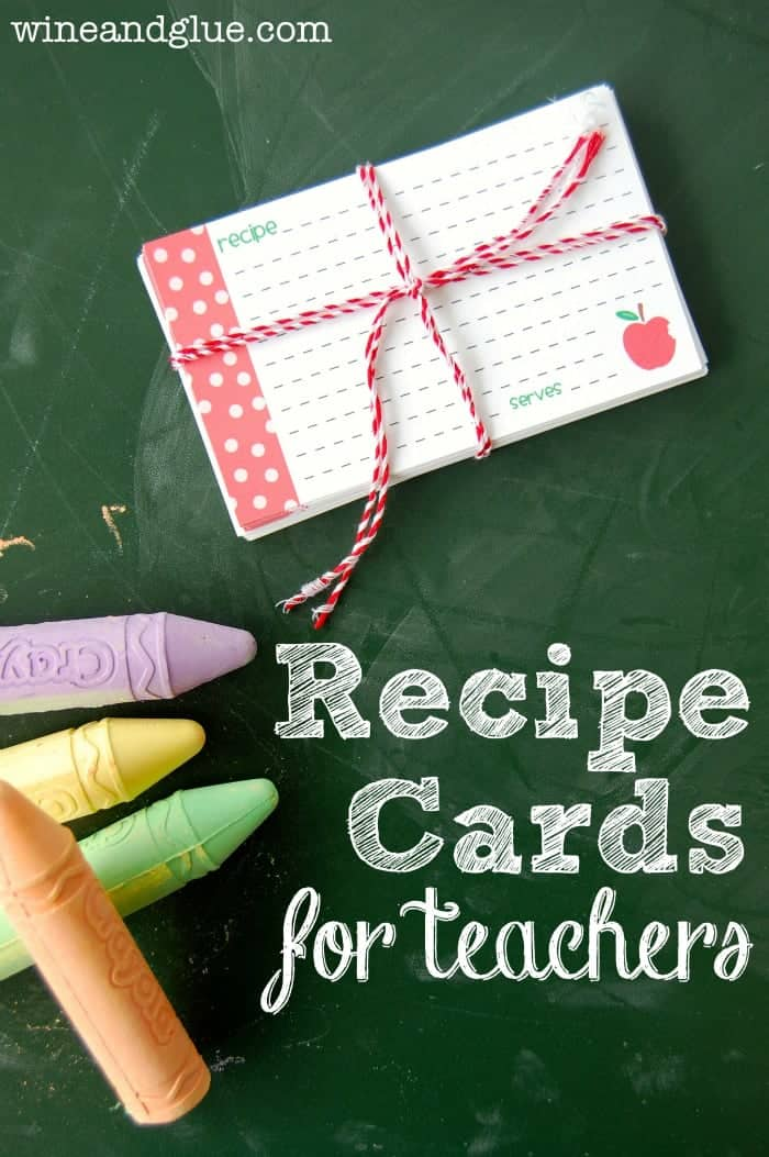 Recipe Cards {An Easy DIY Teachers Gift}