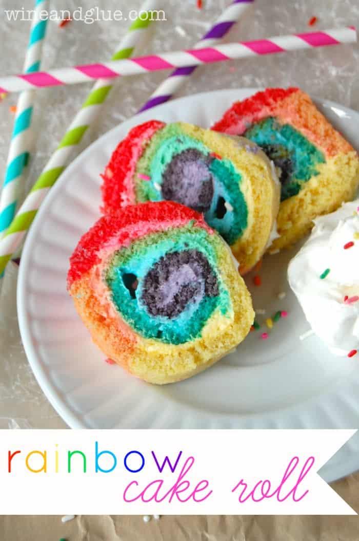 Rainbow Cake Roll Wine Amp Glue
