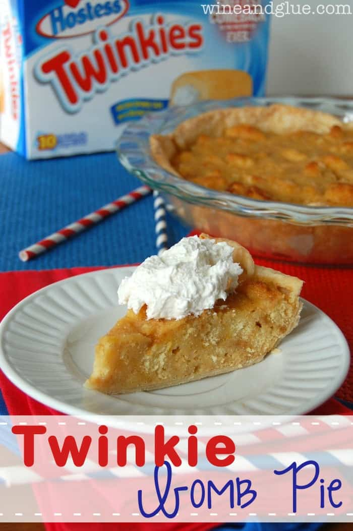 Twinkie Bomb Pie!  That's right, a pie.  Made out of Twinkies.  #Boom. via www.wineandglue.com