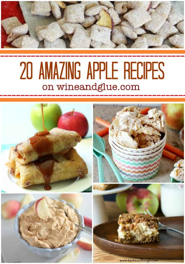 20 Apple Recipes for Fall!  Some of the best apple recipes on the web that will have you drooling and ready for fall! via www.wineandglue.com