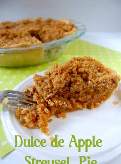 Dulce de Apple Streusel Pie