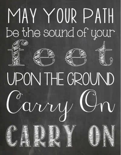 Carry On {Free Printable}