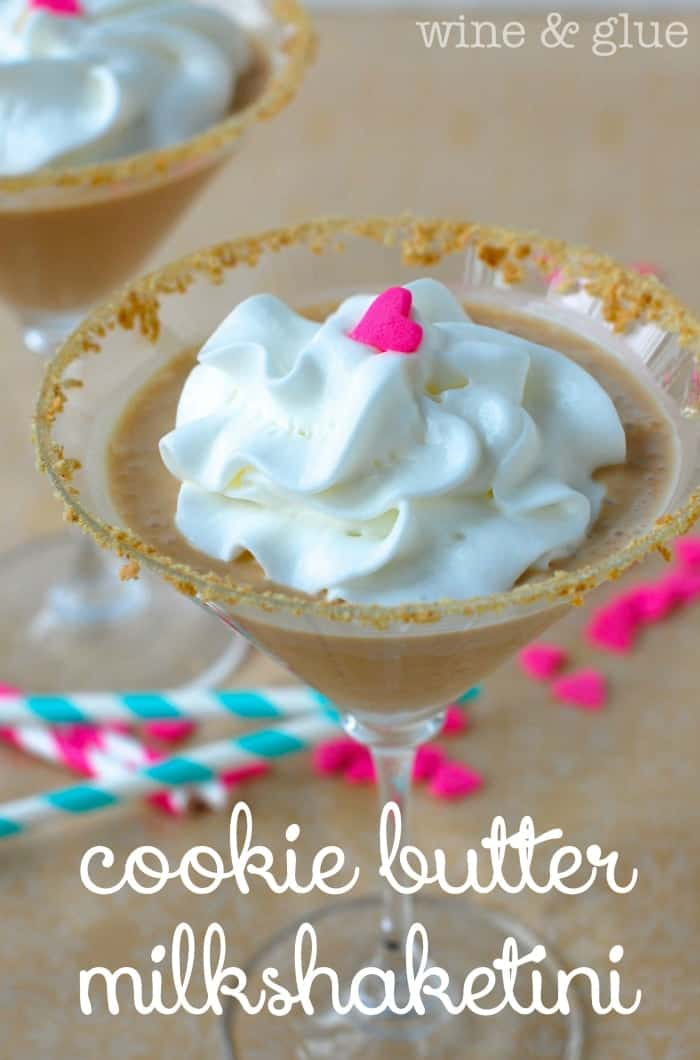 Cookie Butter Milkshake{tini} {Cookie Butter in Cocktail and Milkshake form!}