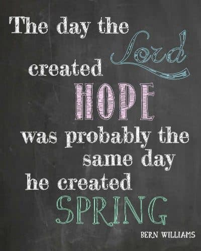 Spring is Coming. I'm Almost Positive. {Free Printable}