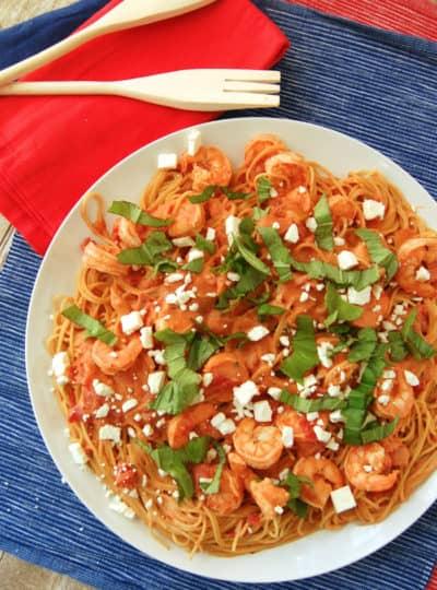 Creamy Tomato Pasta and Shrimp