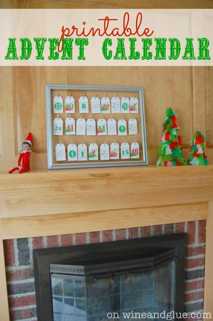 Calendar Advent Diy : Diy advent calendar wine glue